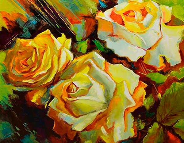 vídeo aula 8 rosas amarelas