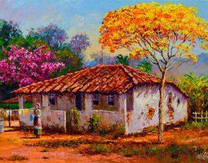 Casa com Ipê Amarelo