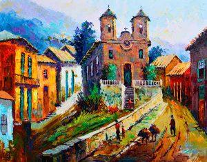 vídeo aula igreja em Ouro Preto